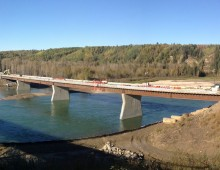 North Saskatchewan River Crossing at Drayton Valley