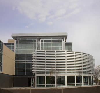 NAIT HP Centre curved facade